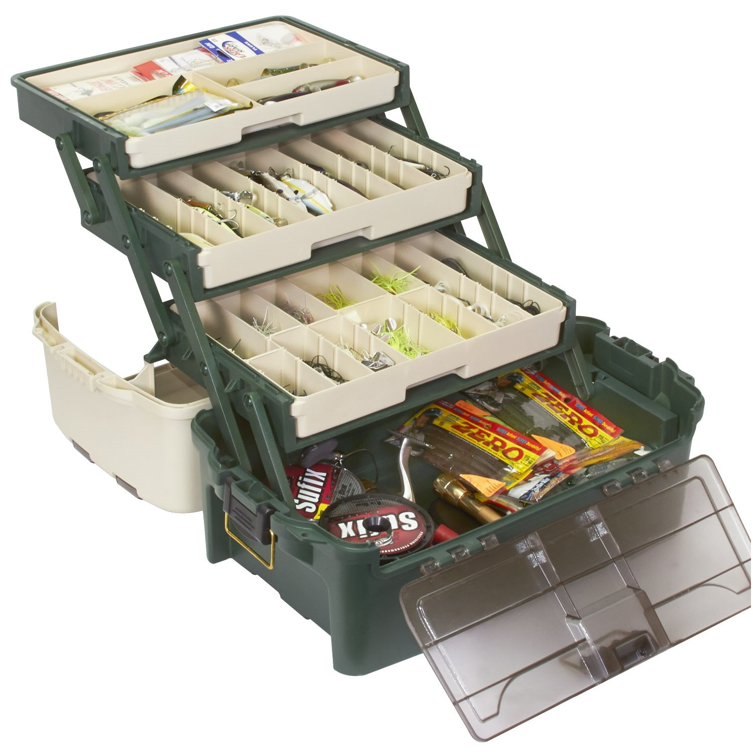 PLANO Tackle Systems Hybrid Hip 3 Tray Box, White/Blue by Plano: Amazon.es: Deportes y aire libre