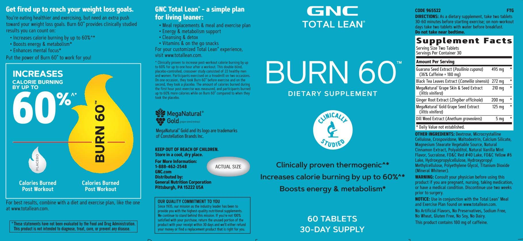 GNC Total Lean Burn 60 - Twin Pack by GNC (Image #3)