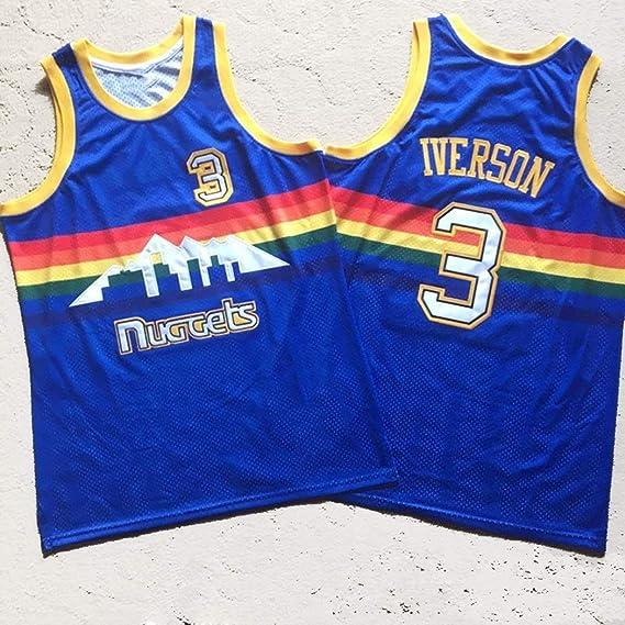 Jjzhb Hombres Allen Iverson Ezail # 3 Camiseta de Baloncesto Retro ...