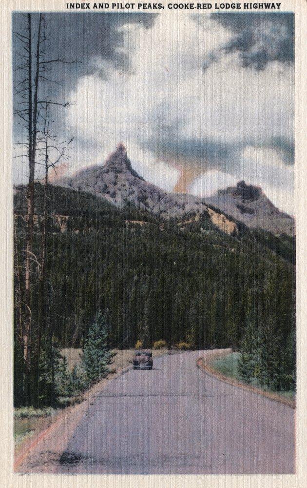 イエローストーン、ワイオミング – インデックスとパイロットピーク、cooke-red Lodge Highway 36 x 54 Giclee Print LANT-7568-36x54 36 x 54 Giclee Print  B01MG3OF11