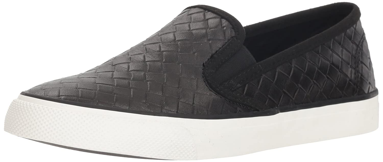 Sperry Top-Sider Women's Seaside Emboss Weave Sneaker B078SFWLFZ 5 M US|Black