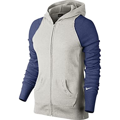 Amazon.com: Nike Women's Knit Full Zip Sweater Hoodie (Large ...