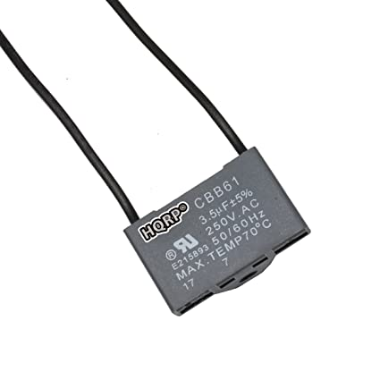 HQRP Harbor Breeze Ceiling Fan Capacitor 3.5uf 2-Wire plus HQRP ...
