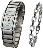 Pack montre femme Nacré blanche + bracelet ceramique collection dolce vita