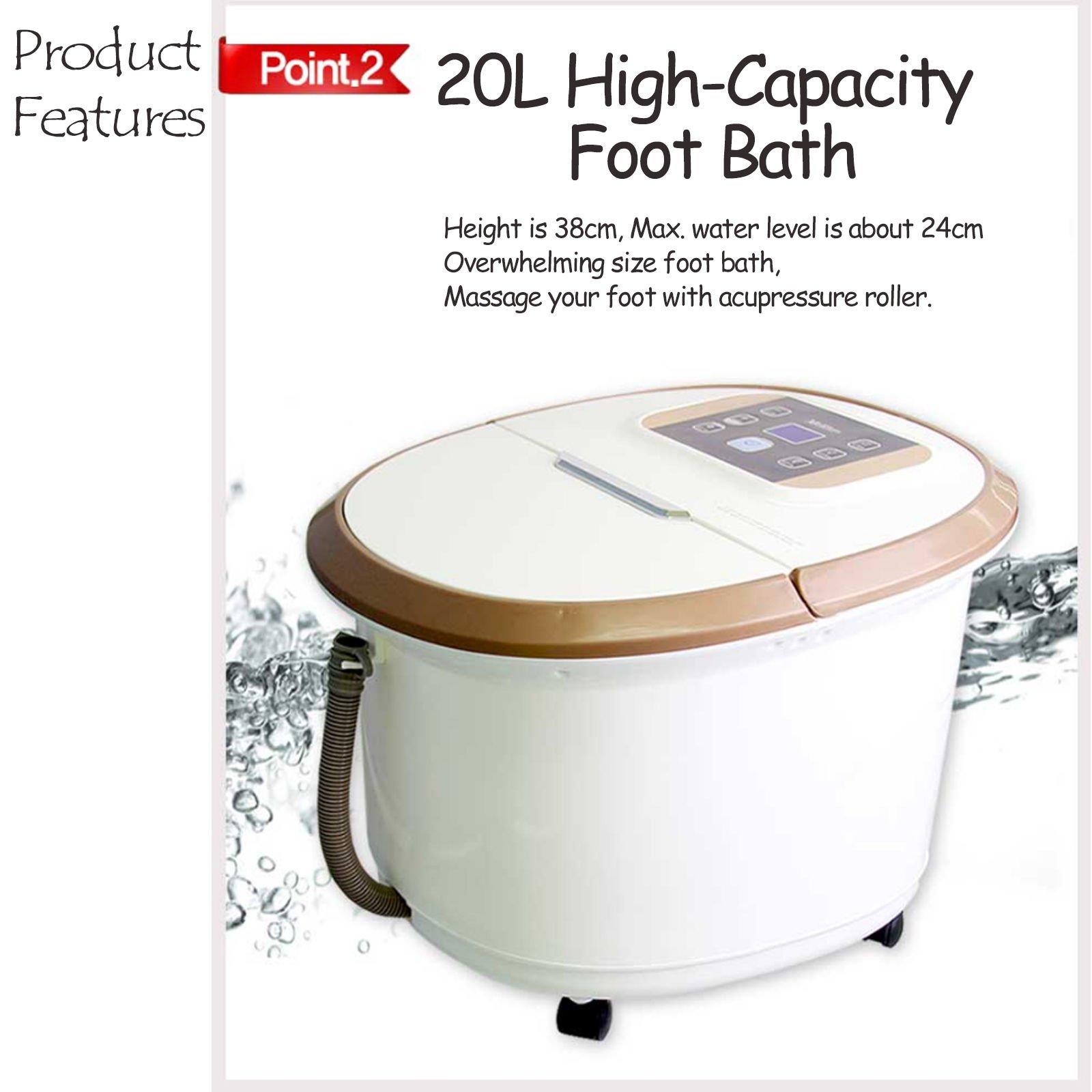 Foot Love MHJ-950A Foot Bath Foot Spa Homedics Foot Care 20L 220V by Foot Sarang (Image #4)