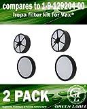 2er-Pack HEPA Filterset (Vor- und Nachmotorfilter) für Vax Mach Zen Staubsauger. (Vergleichbar mit 1-9-129204-00). Original Green Label Produkt.