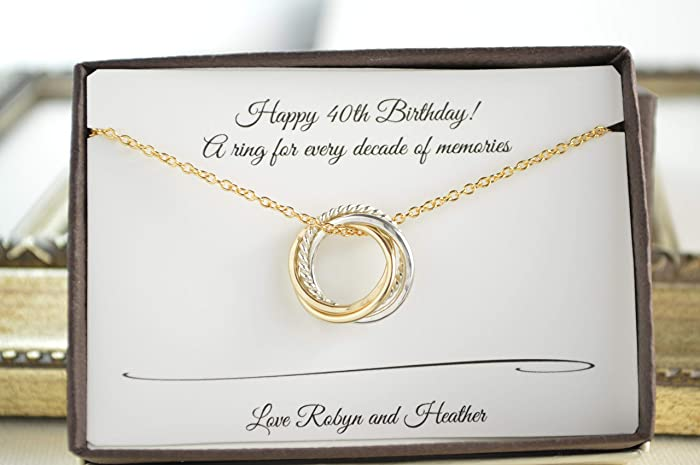 Amazon 40th Birthday Gift For Her 4 Mixed Metals Necklace 4th