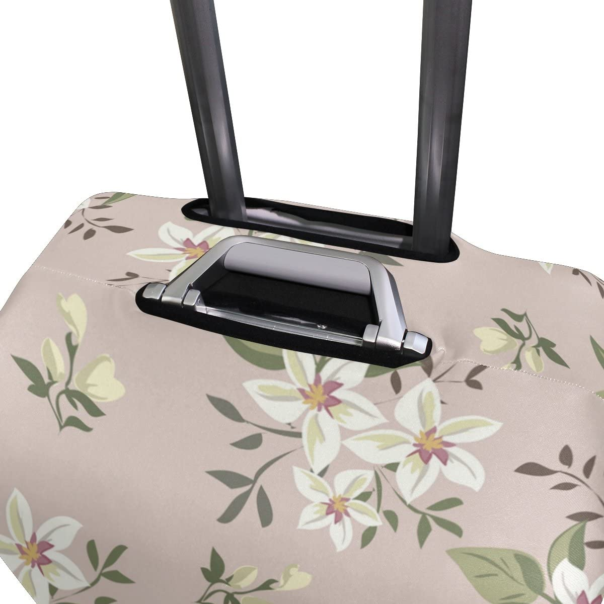 OREZI Luggage Protector Vintage Flower Pattern Travel Luggage Elastic Cover Suitcase Washable and Durable Anti-Scratch Stretchy Case Cover Fits 18-32 Inches