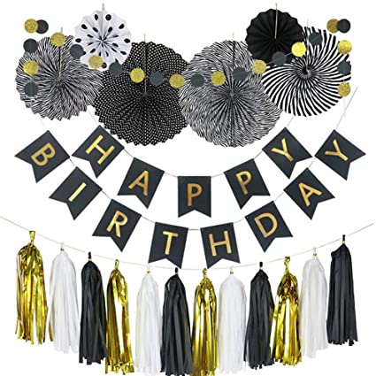 711f19ffd1ea8 Amazon.com: Black Party Decorations Birthday Party Supplies - 20pcs ...
