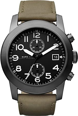 marc by marc jacobs mbm5034 mens olive leather larry chronograph marc by marc jacobs mbm5034 mens olive leather larry chronograph watch