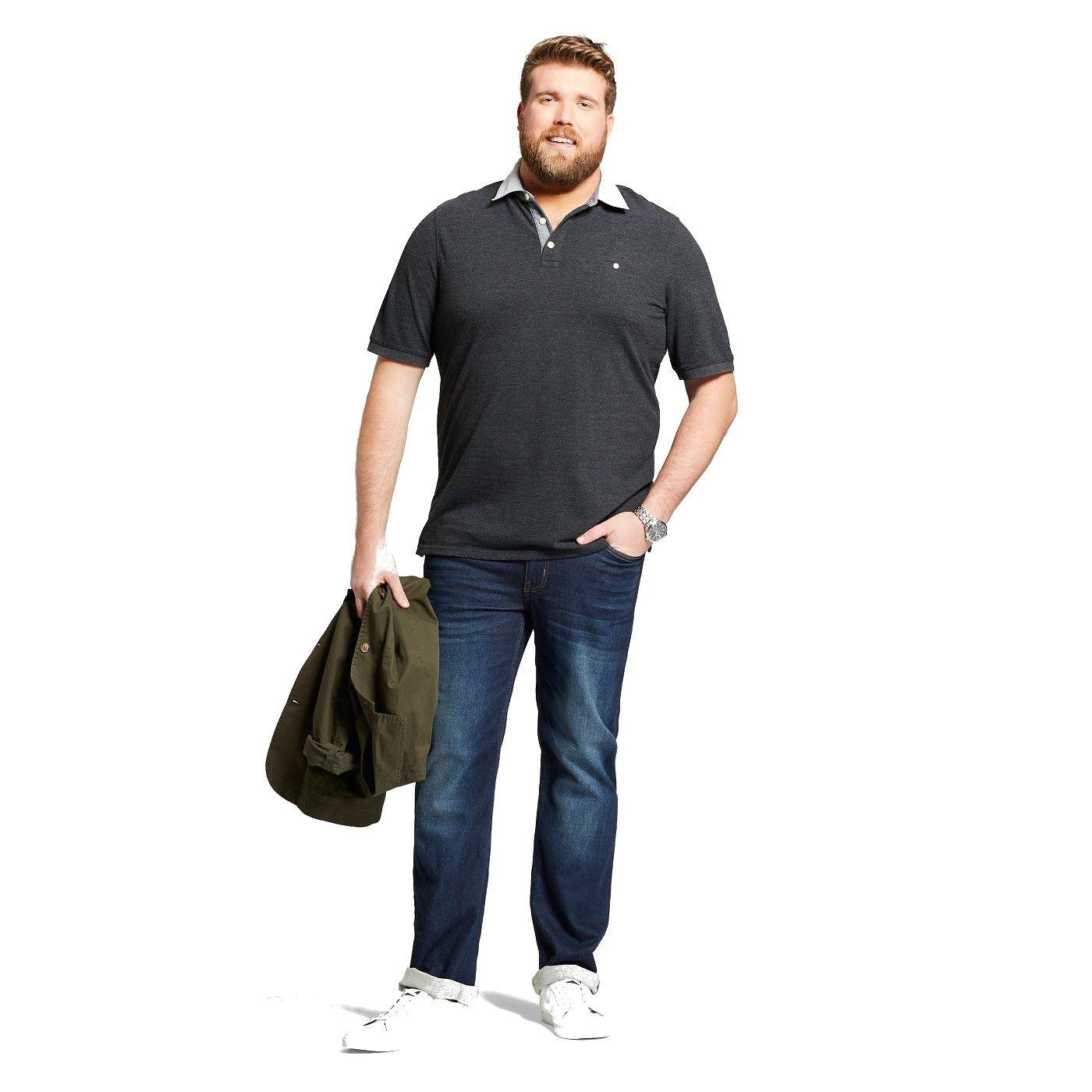 24124c0314c Goodfellow & Co Men's Big & Tall Short Sleeve Polo Shirt, Black, 5 XBT at  Amazon Men's Clothing store: