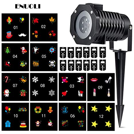 enuoli waterproof christmas light projector led 12 switchable patterns outdoor outdoor tree landscape projector mini spotlight - Cvs Outdoor Christmas Decorations