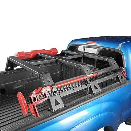 Bed Rack Tacoma >> Amazon Com Hooke Road 2 Gen Tacoma Truck Bed Rack Hi Lift Jack