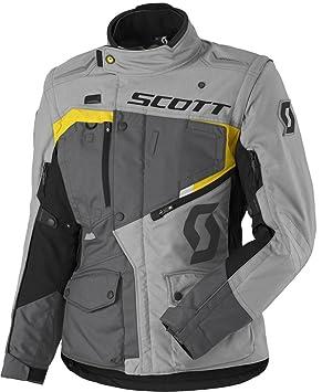 Scott Dual Raid DP Mujer Chaqueta de Moto, Gris/Amarillo 2018: Amazon.es: Coche y moto