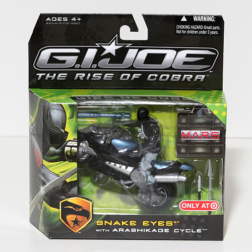 (G.I. Joe: The Rise of Cobra Exclusive M.A.R.S. Troopers Action Figure Snake Eyes with Arashikage Cycle)