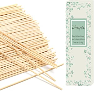Wnspir Reed Diffuser Sticks-Diffuser Reeds-80 PCS of 10 Inch Natural Rattan Reed Sticks Set-Aromas Set for Home Fragrance