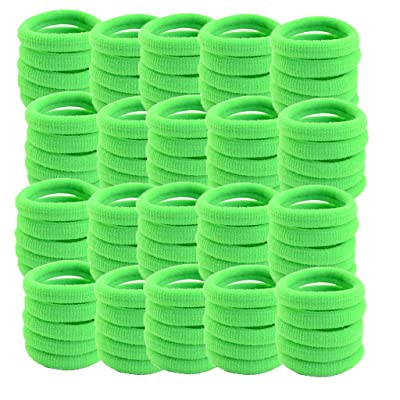 XGao Ponytail Holder, Grab and Go Ponytail Holders, 100Pcs Hair Ties Ponytail Holders Scrunchies Hair Accessories No Crease Damage for Women Girls (Green): Sports & Outdoors