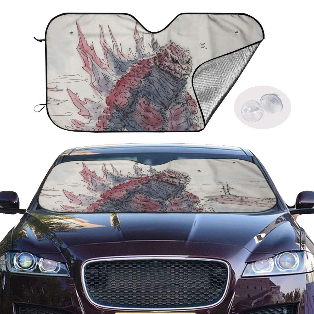 51 X 27.5 Bargburm Angry Colorful Lion Windshield Sunshade for Car SUV Truck Foldable Uv Ray Reflector Front Window Sun Shade Visor Shield Cover
