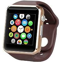 Smartwatch A1 Relógio Inteligente Bluetooth Gear Chip Android iOS Touch Faz e atende ligações SMS Pedômetro Câmera - DOURADO/MARRON