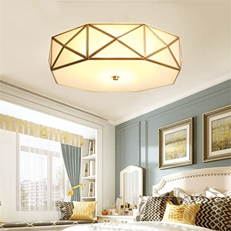 Vintage Led Ceiling Lights E27 Copper Illumination Lights and Fixtures for Living Room Dining Room Lamparas