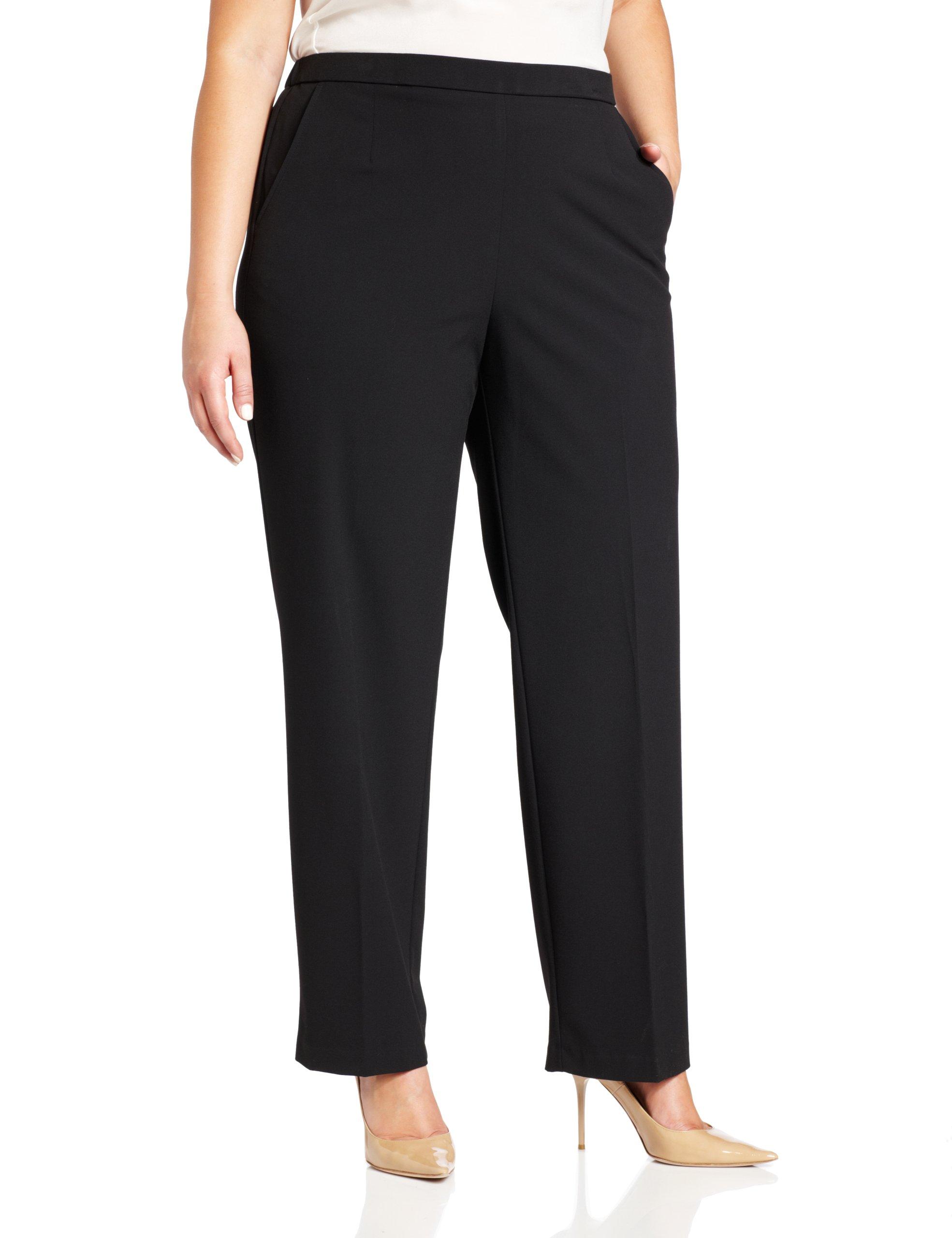 Briggs New York Women's All Around Comfort Pant,Black,22W
