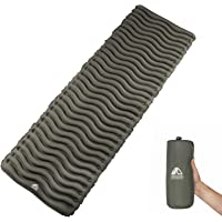 Ultralight Tapis Camping Ryaco Gonflable Couchage Pad avec coussin et sac gonflable