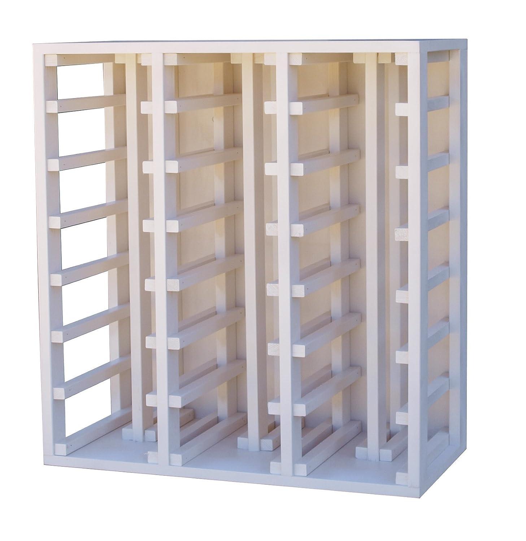 Expovinalia Botellero con Capacidad para 42 Botellas, Madera, Blanco, 75x68x32 cm EXQXT ew2061
