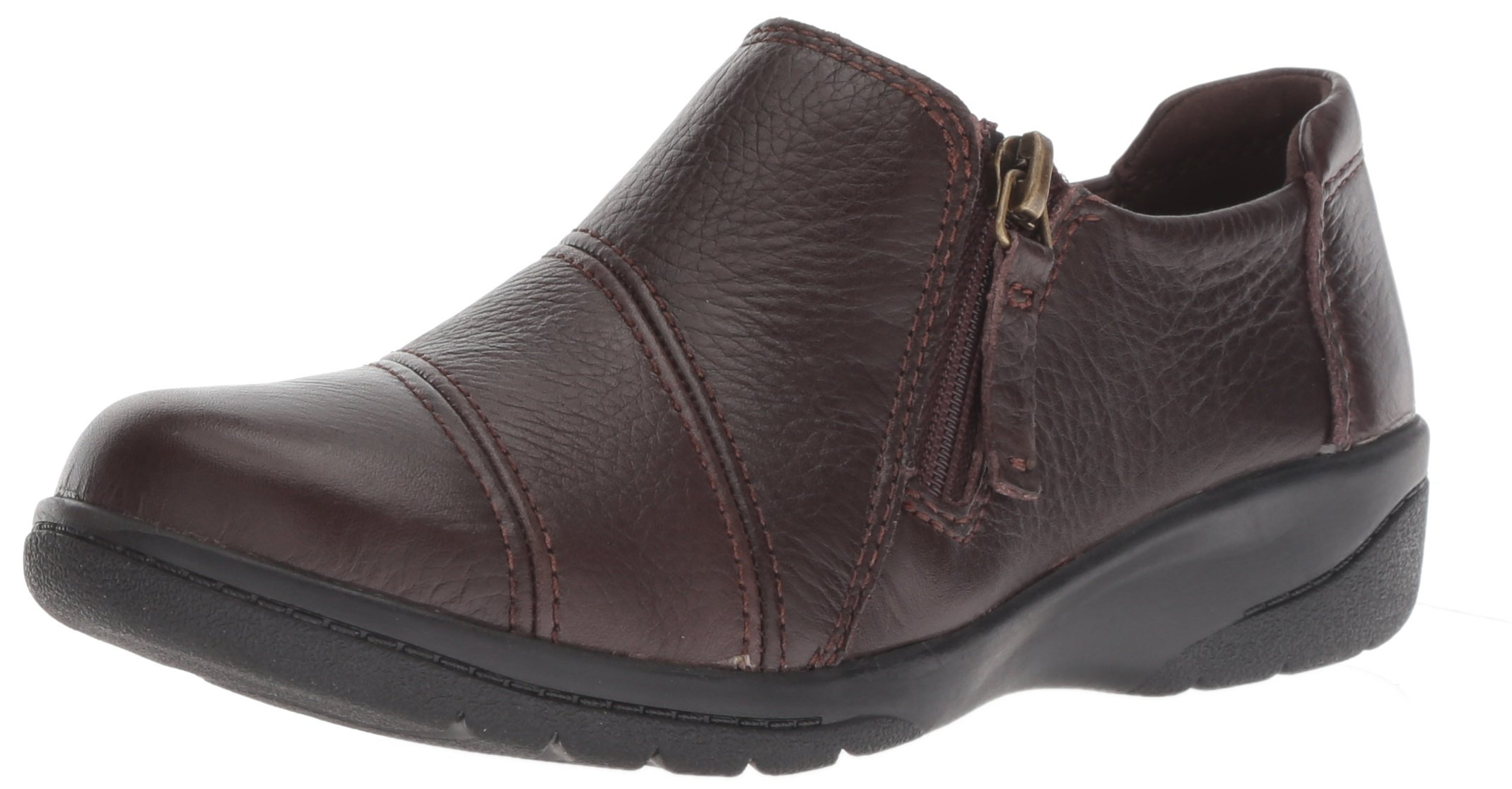CLARKS Women's Cheyn Clay Loafer, Brown Leather, 085 M US