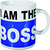 "Gran regalo, presente ideal para el bebedor de té, café y extra grande demasiado ""I am the Boss"" XL café taza de té"