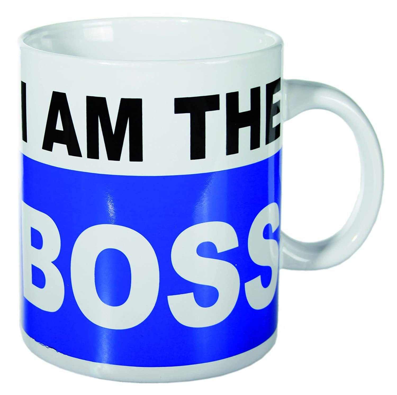 I am the Boss XL Coffee Tea Mug One Supplied Hot Drink Lover Christmas Secret Santa Gift For Men /& Women