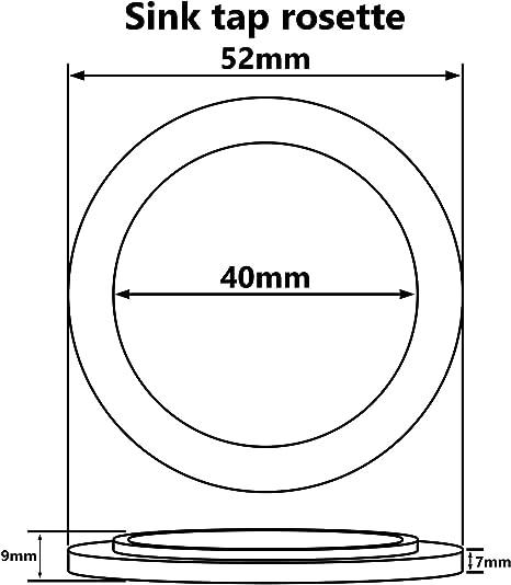 Cocina Grifo Base Anillo Empaquetadora Lavadora Roset/ón Pl/ástico Cromado
