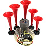 dixie air horn - dixieland premium full 12 note version with installation  wire kit and button