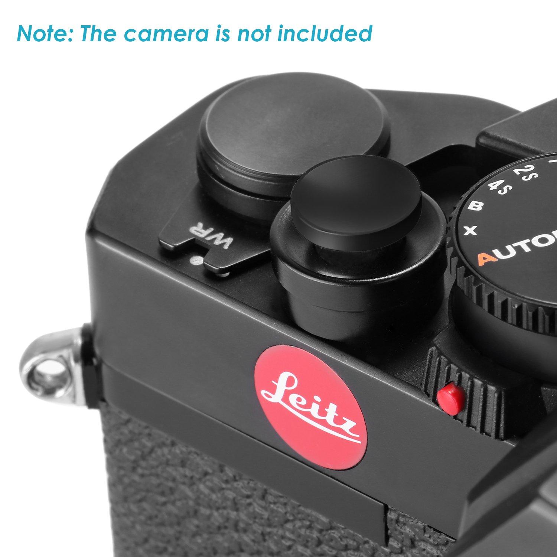 Neewer Paquete de 10 Bot/ón C/óncavo de Lat/ón de Liberaci/ón de Obturador de 11mm para C/ámara Fujifilm Leica M3 M6 M7 M8 M9 y Otras c/ámaras SLR con Agujero de Tornillo Negro