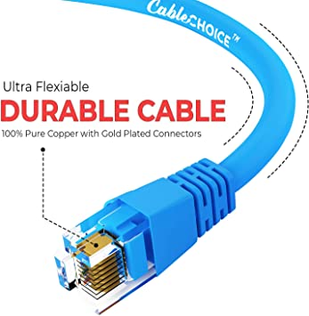 RJ45 10Gbps High Speed LAN Internet Patch Cord 2 Feet - Red CABLECHOICE 5-Pack UTP Available in 28 Lengths and 10 Colors Cat6 Ethernet Cable Computer Network Cable with Bootless Connector