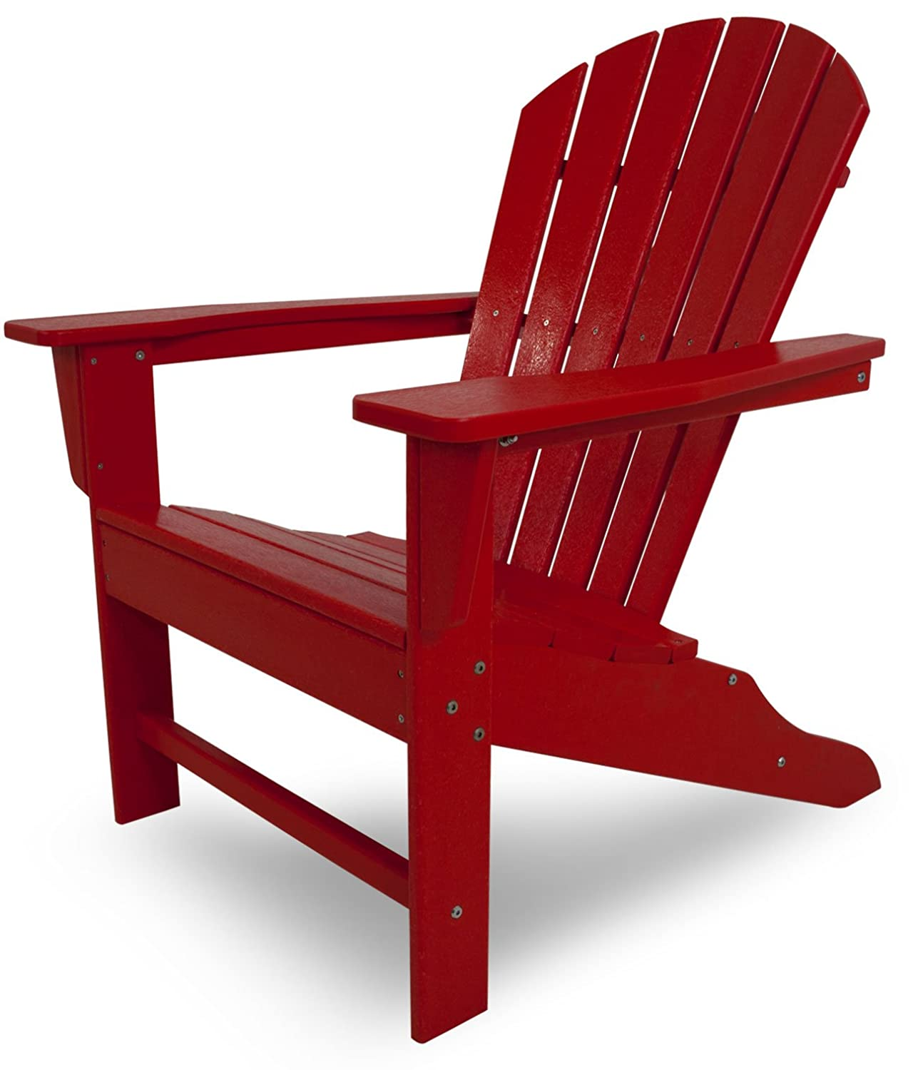 Amazon POLYWOOD SBA15SR South Beach Adirondack Sunset Red