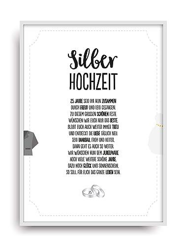 Karte Silberhochzeit Text.Hochzeit Karte Silberhochzeit Kunstdruck 25 Hochzeitstag