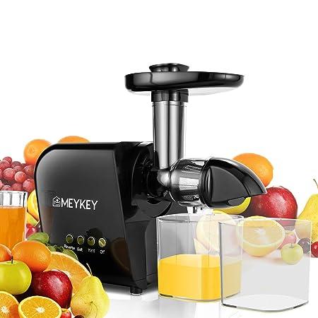 Meykey Slow Juicer - Licuadora de verduras y frutas, sin BPA ...