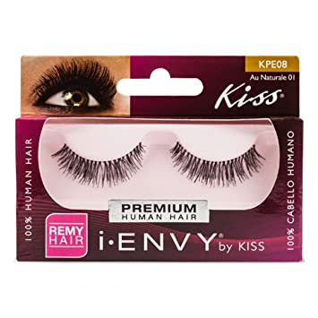 33f6009b69e Amazon.com : Kiss I Envy Au Naturale 01 Lashes (3 Pack) : Fake Eyelashes  And Adhesives : Beauty