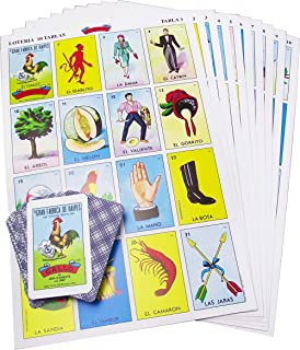 Original Jumbo Loteria Game Set in Spanish, Mexican Loteria 10 Players