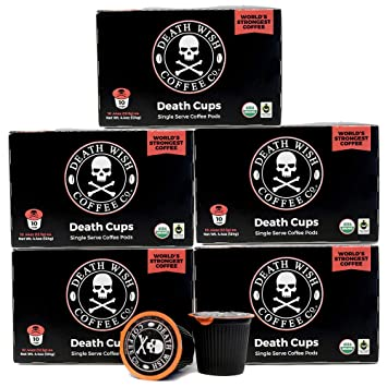death wish single serve coffee pods for keurigk cup style 20 brewers