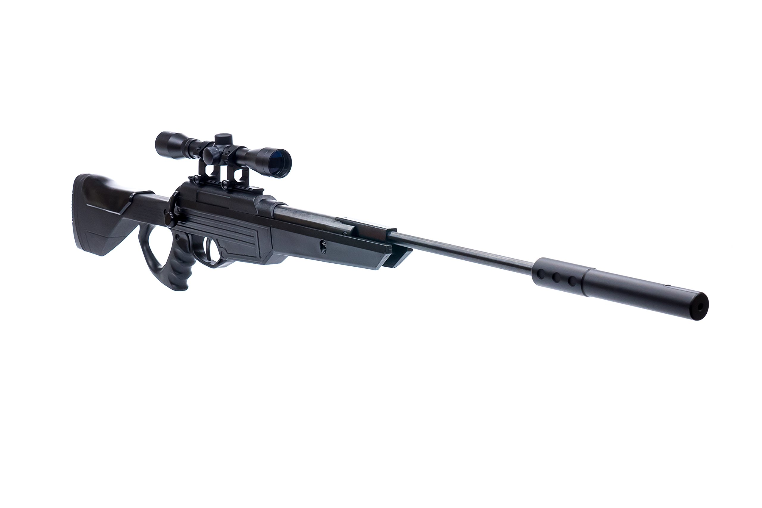Bear River TPR 1300 Suppressed Hunting Air Rifle - .177 Airgun - Pellet Gun with Scope and Silencer Included