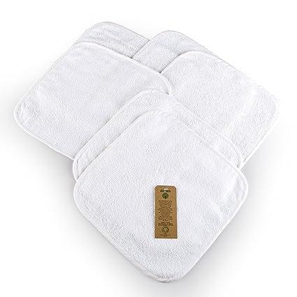 Arus - Juego de 6 toallitas de baño para bebé, 30 x 30 cm,