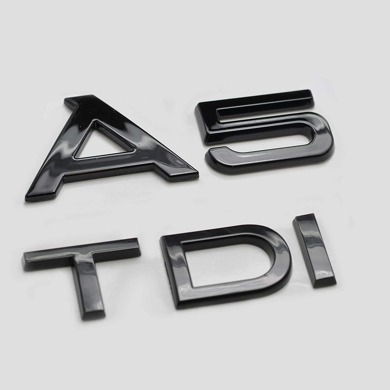 Nero lucido A5 TDI Scritta Emblema Badge per baule posteriore A5 modella