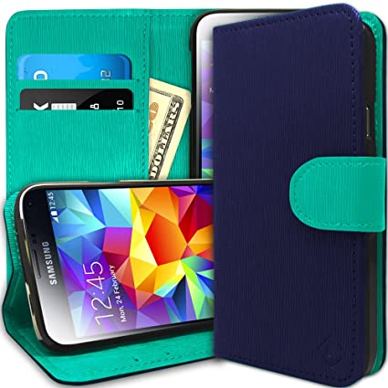 classic fit c7837 98e1a Caseology Wallet for Galaxy S5 Case (2014) - Card Holder - Navy Blue