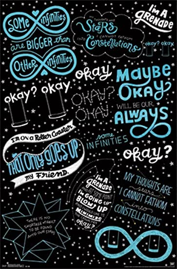 The Fault In Our Stars Quotes   Based On The Novel   22x34 Film Poster
