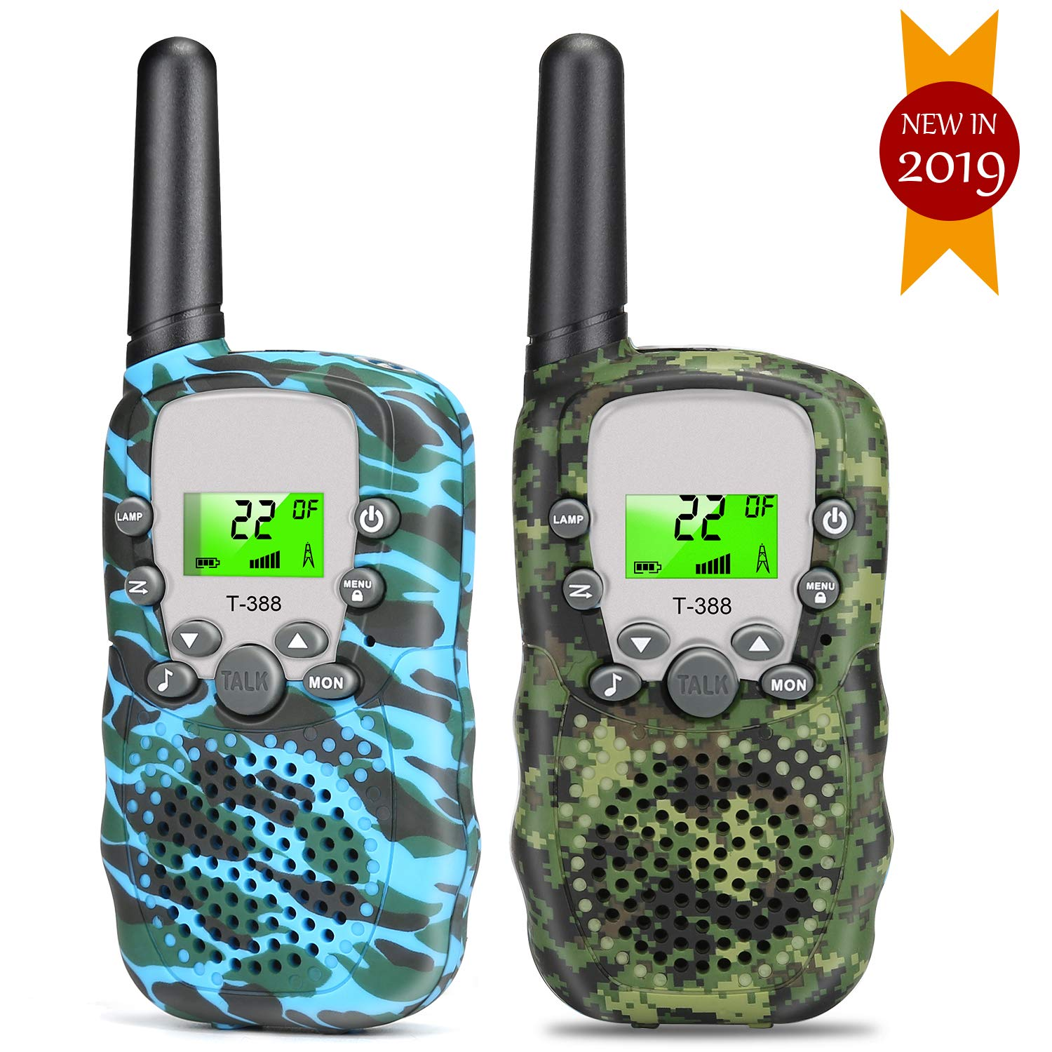 Walkie Talkies for Kids, 2 Way Radio Toy 22 Channel Great Kids Interphone, Best Gifts Toys for 4-12 Years Old Boys & Girls, Tools to Keep in Touch with Kids (2 Packs) by YUZW (Image #1)