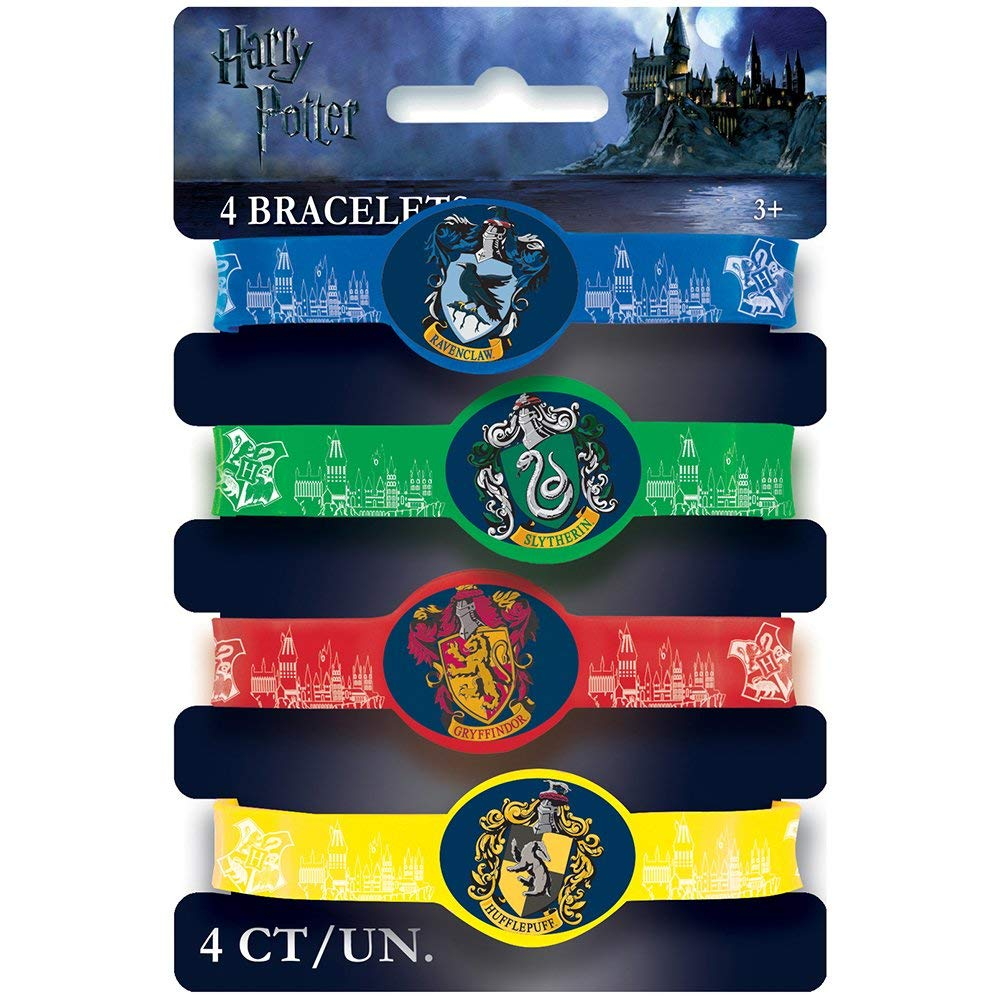 Harry Potter Party Favor Stretchy Bracelets [4 Per Pack]: Amazon ...