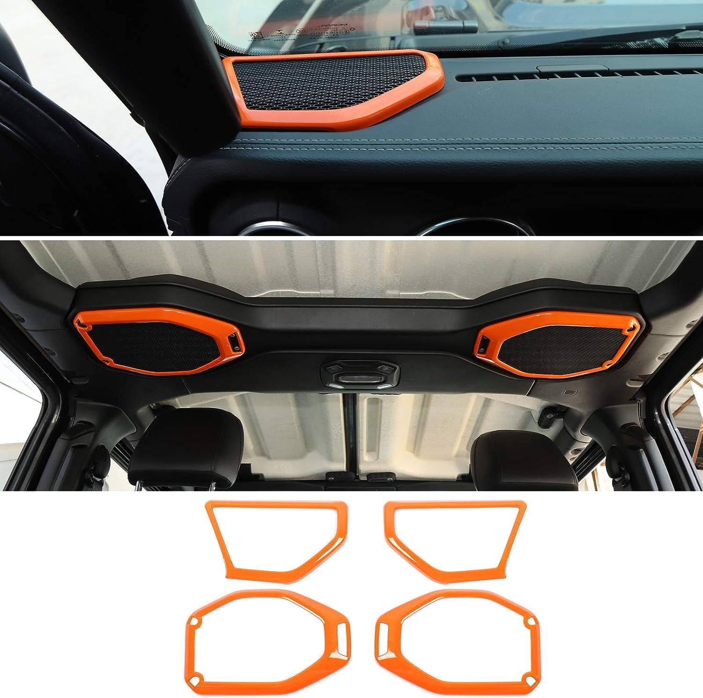 RT-TCZ Pillar A/&B Speaker Decoration Trim Cover Top Roof Speaker Trim Cover for Jeep Wrangler 2018-2021 UPJL 4 Door Orange