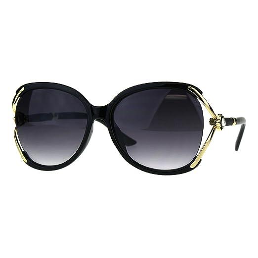 26176553be70 Womens Fashion Sunglasses Rhinestone Flower Accent Designer Style Black