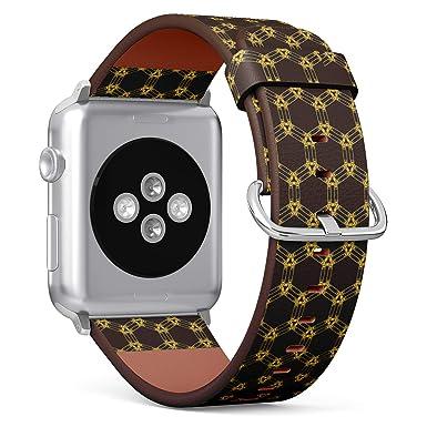 Compatible con Reloj Apple pequeño de 38 mm y 40 mm, Correa de Piel con